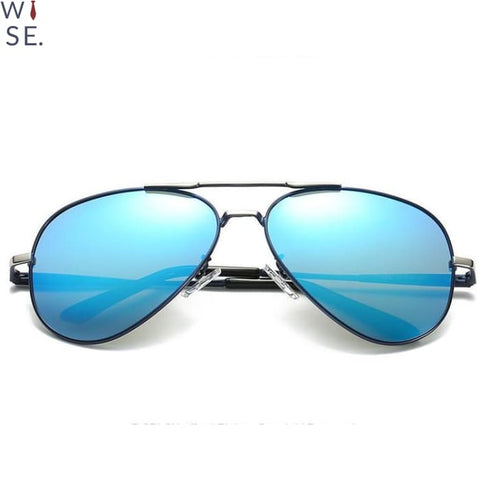 Image of The Reno - Black Frame (Silver) / Blue Lens