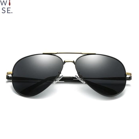The Reno - Black Frames (Gold) / Grey Lens