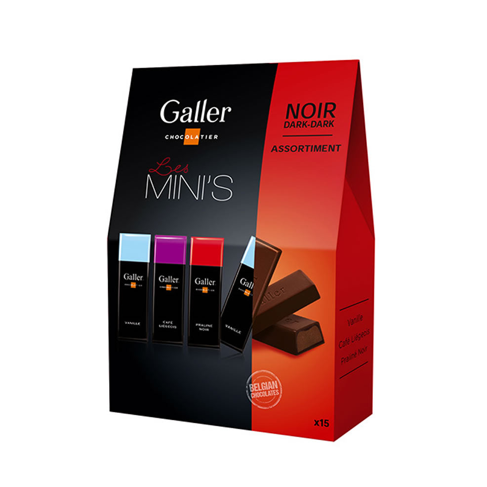 Galler Mini Bars - Dark Assortment 180 gr