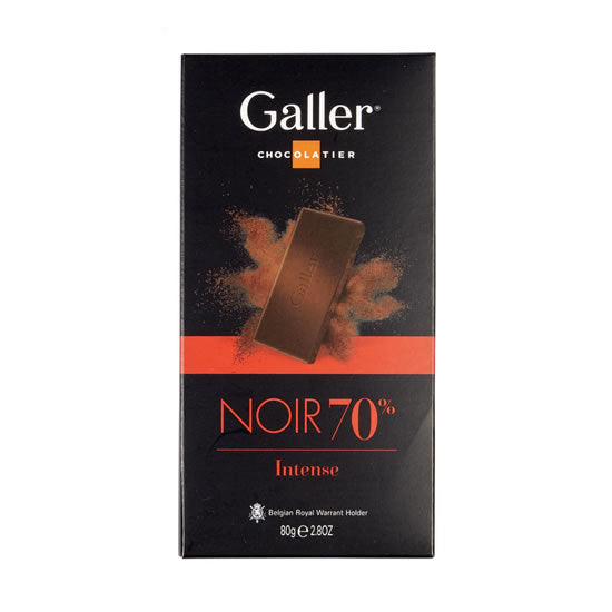 Galler Intense Dark With Cocoa 70%  80 Gr