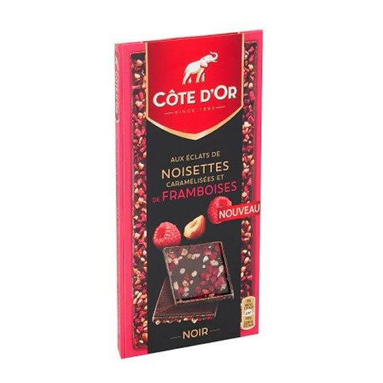Côte d'Or Dark With Raspberries & Hazelnut 100 Gr