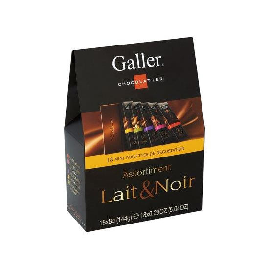 Galler Dark & Milk Assortment 18 x 8 gr