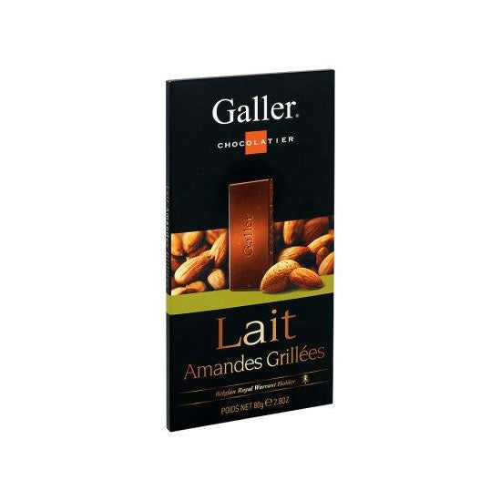 Galler Milk With Roasted Almonds 80 Gr