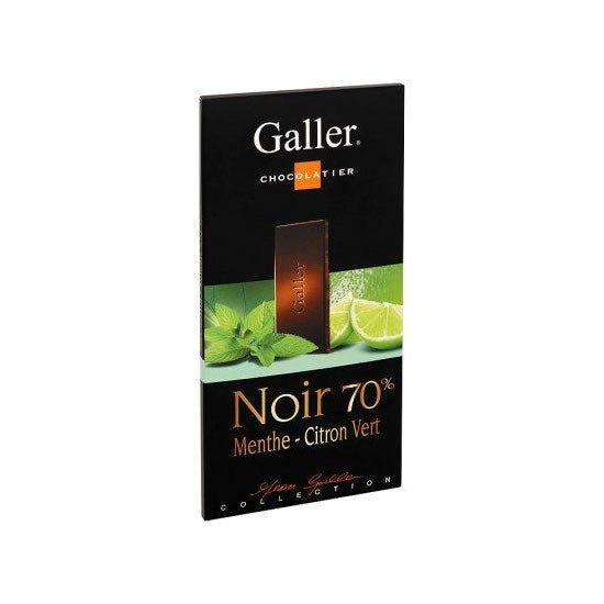 Galler Dark 70% With Mint & Lime  80 Gr