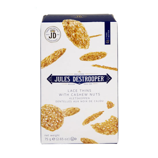 Jules Destrooper Lace Biscuits with cashew nuts 75gr