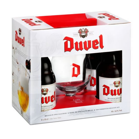 Duvel Box 4x330ml + 1xGlass