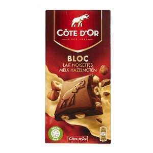 Côte d'Or Block Milk With Hazelnut 180 Gr