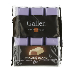 Galler White With Praliné 6x28 Gr