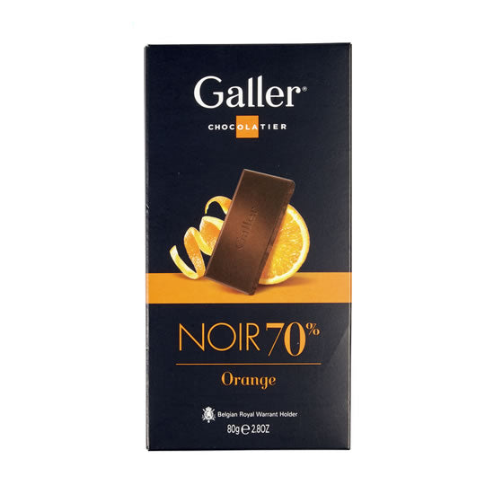 Galler Dark 70% With Orange 80 Gr