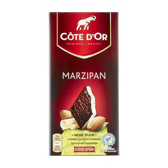 Côte d'Or Dark With Marzipan 150 Gr