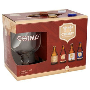 Chimay Trappist Gift Box  4x330ml + 1 Glass