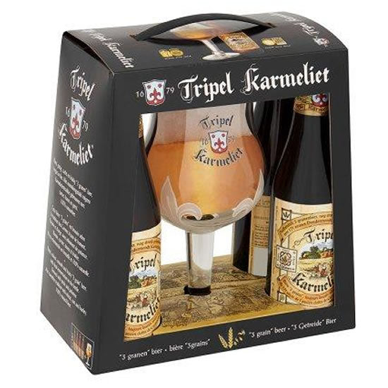 Karmeliet Tripel Box 4x330ml + 1xGlass