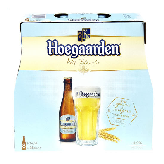 Hoegaarden White Beer 4,9% 8x250ml Pack