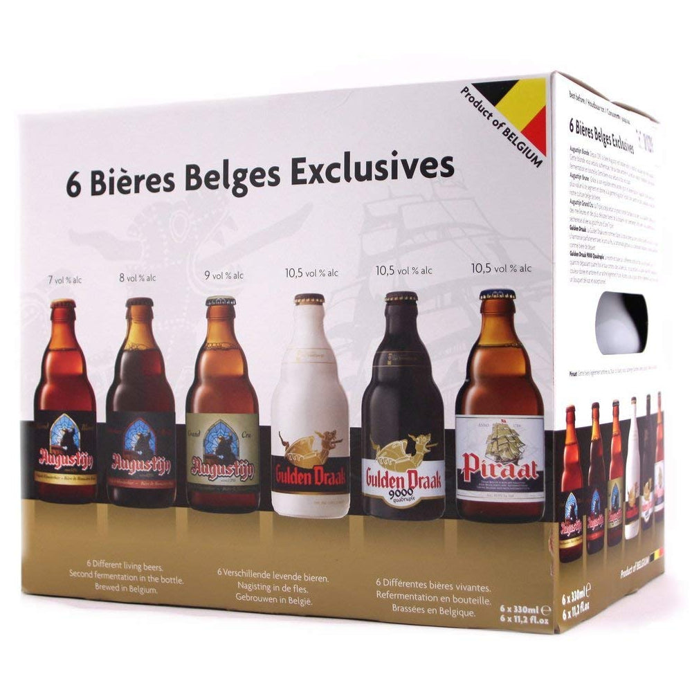 6 Exclusive Belgian Ales Gift Box  6x330ml