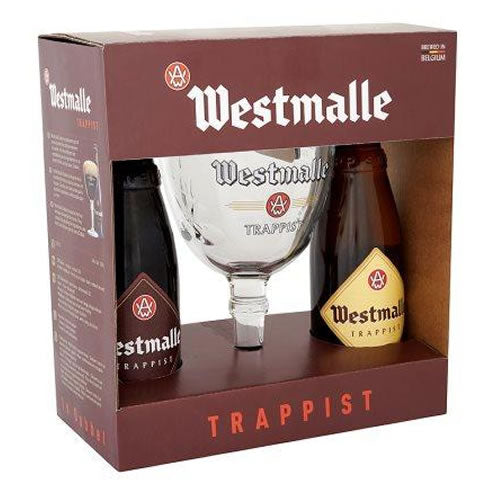 Westmalle Trappist Gift Box  2x330ml + 1 Glass