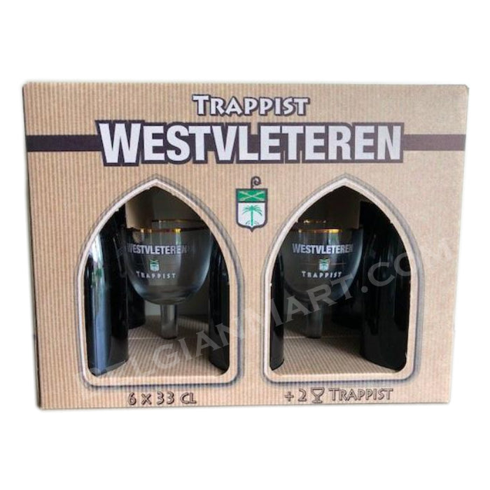 Westvleteren 12 Gift Box  6x330ml + 2 Glasses