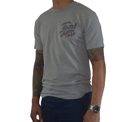 Twin Jitsu Grey T-Shirt Left