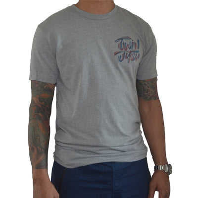 Twin Jitsu Grey T-Shirt Right