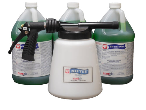 Biocide Plus Starter Kit (3 gallons Biocide Plus, 1 Hydro Foamer), FREE SHIPPING