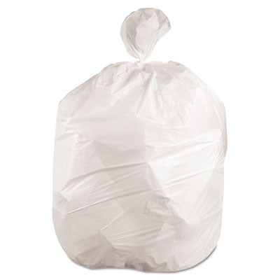 Mighty Tough Low-Density Waste Can Liners, 12-16, 24 x 32, .45mil, White, (500/cs)