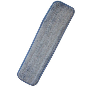 "Mop, Wet Looped 18"" Blue Microfiber Mop Pad"