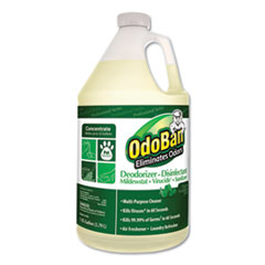 OdoBan Concentrated Odor Eliminator & Disinfectant, Eucalyptus, 1gal Bottle, 4/Carton