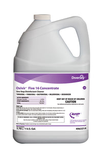 Oxivir Five 16 One-Step Disinfectant Cleaner, 1gal Bottle, 4/Carton by Diversey