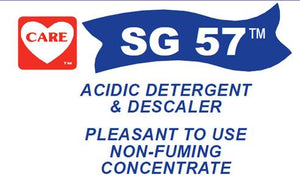 SG 57 Acidic Detergent & Descaler (Remove Hard Water Scale), 4-1 gallons/case