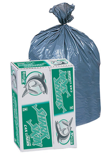 Liner, 38x58, 60 gallon, 1.1ml Gray 100/cs 75 lb capacity