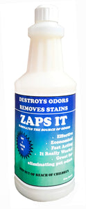 Zaps It Concentrate Natural Pet Odor Eliminator (12 Quart/case)