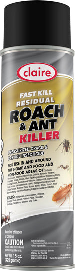Fast Kill Residual Roach & Ant Killer, 2-Pack (Home & Commercial Use), Keeps Ants Away for Months (Residual Power), C301