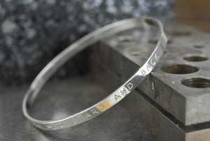 Great Quotes For New Mums You Could Have On A Personalised Silver Bangle