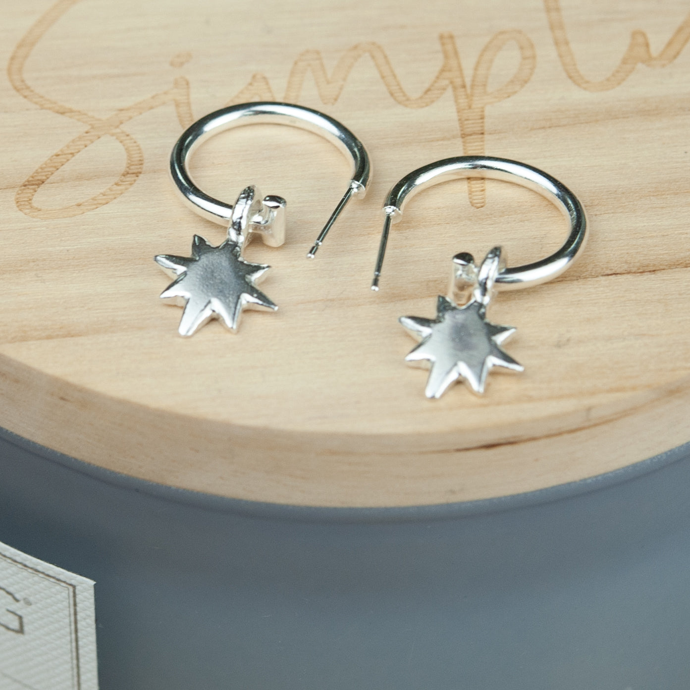Belle & Bee baby north star hoop earrings