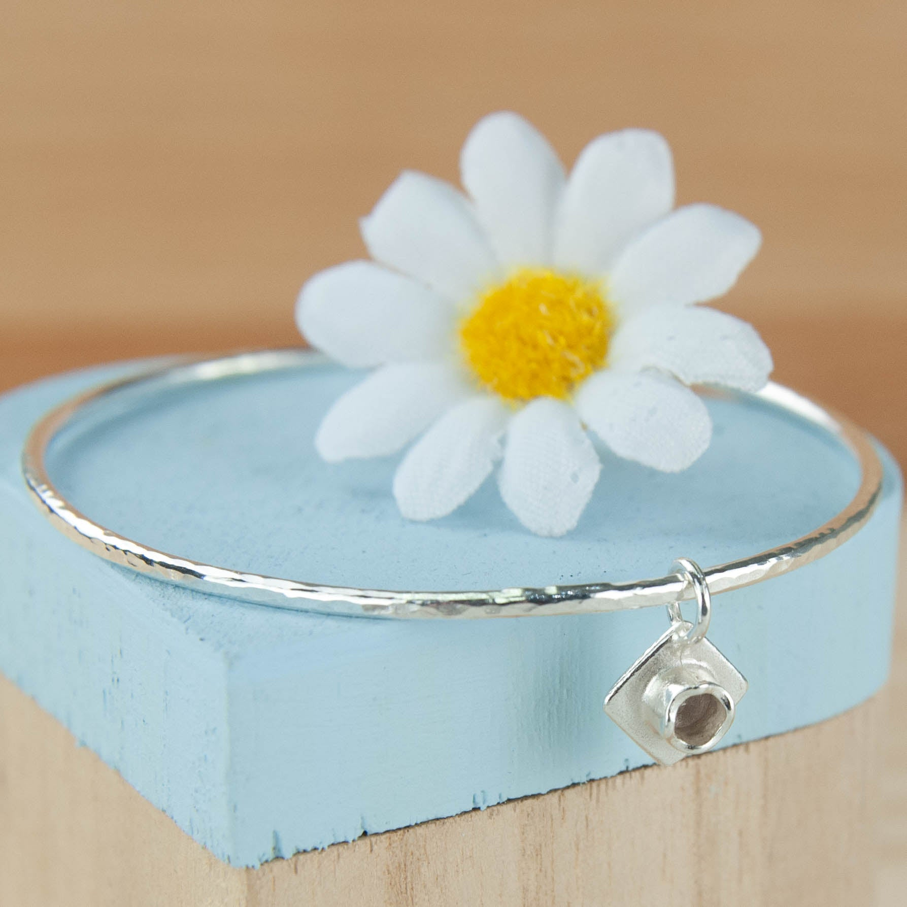 Belle & Bee Sterling silver 2mm Graduation Bangle
