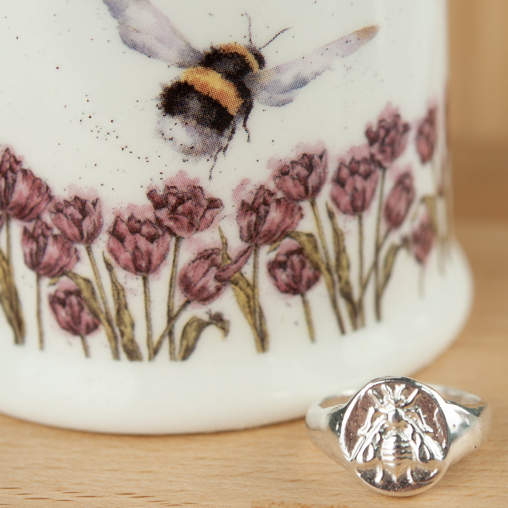 Belle & Bee Sterling Silver Chunky Bumble Bee Ring