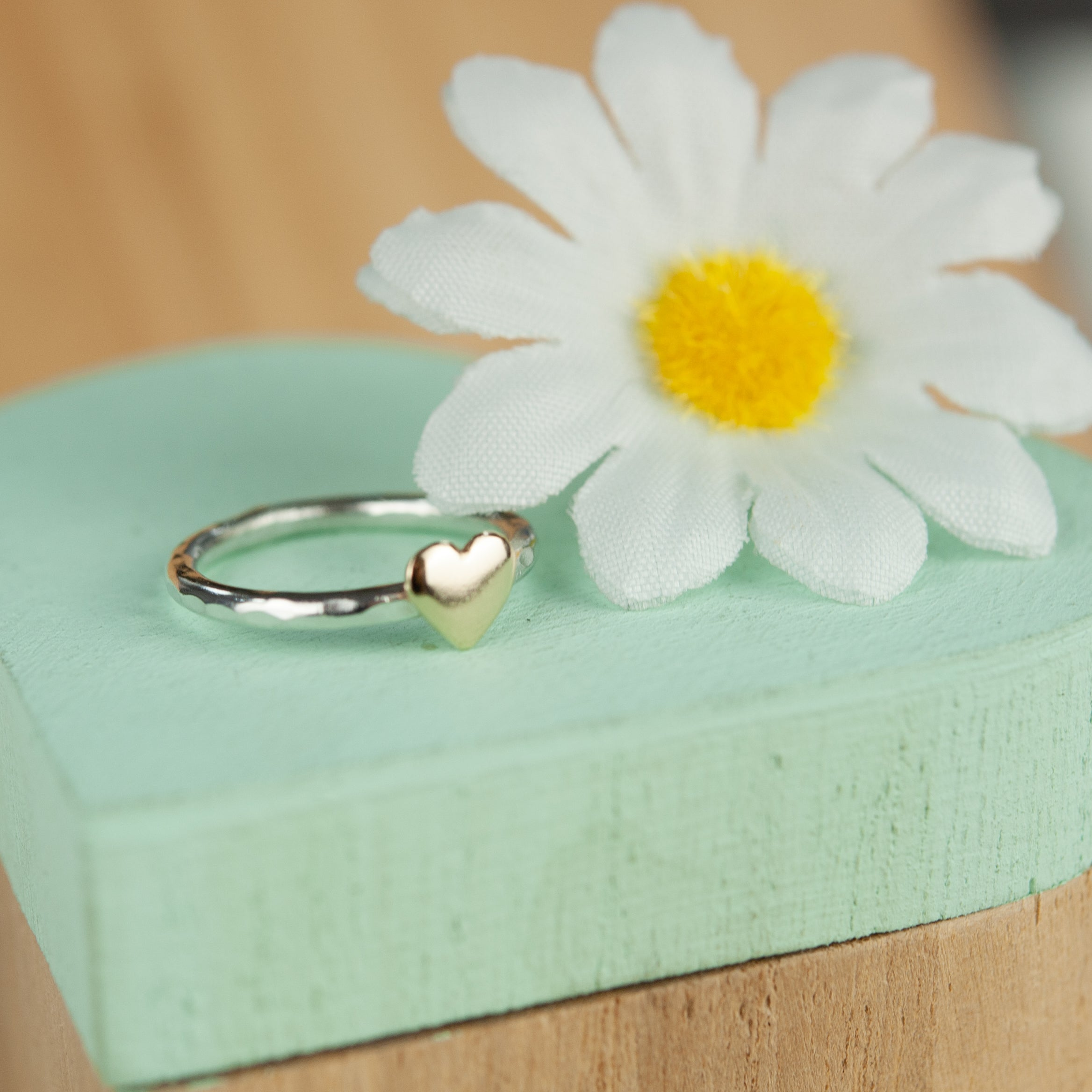 Belle & Bee Gold Heart Stacking ring