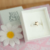 Belle & Bee sterling silver stacking ring with Gold Star