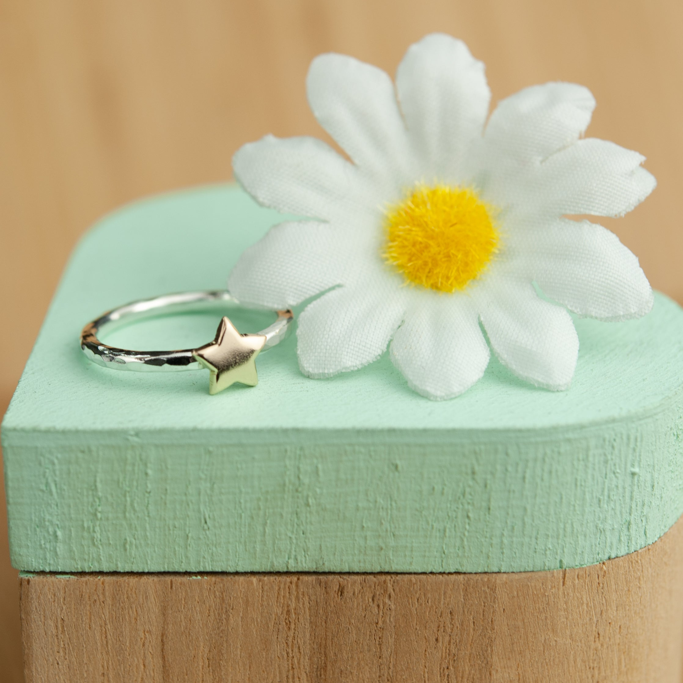Belle & Bee Gold Star stack ring