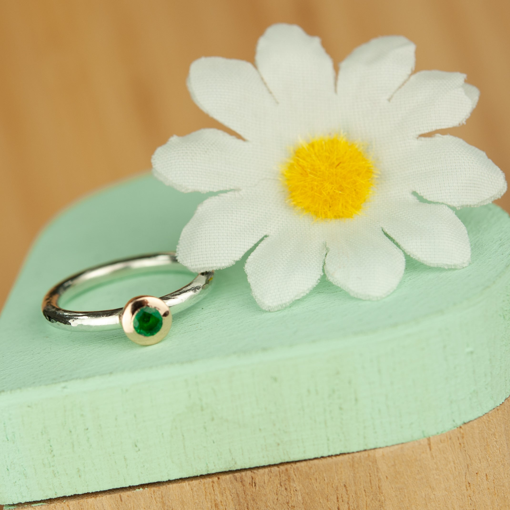 Belle & Bee Emerald ring