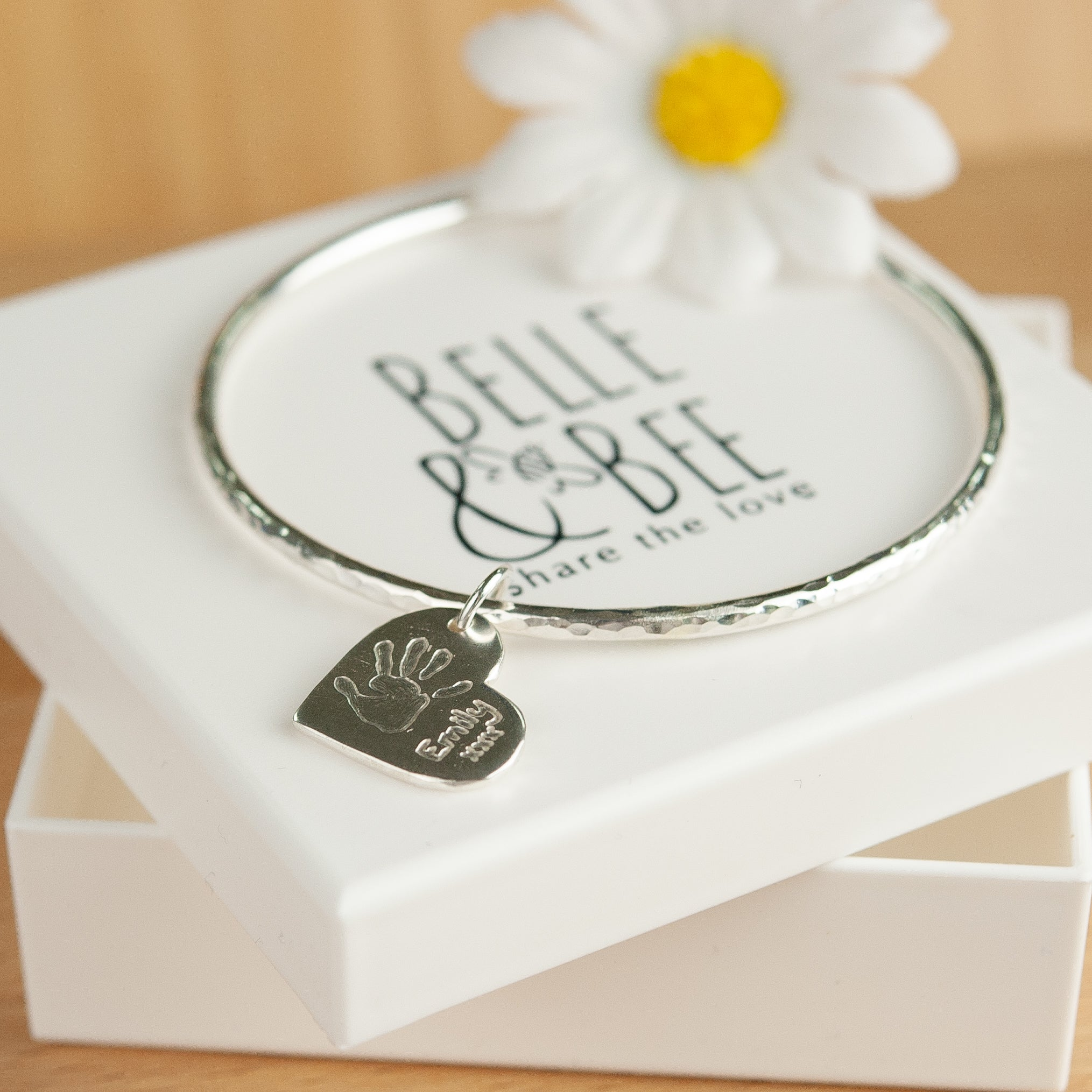 Belle & Bee handprint bangle