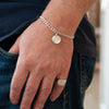 Belle & Bee Sterling Silver Horoscope Disc bracelet