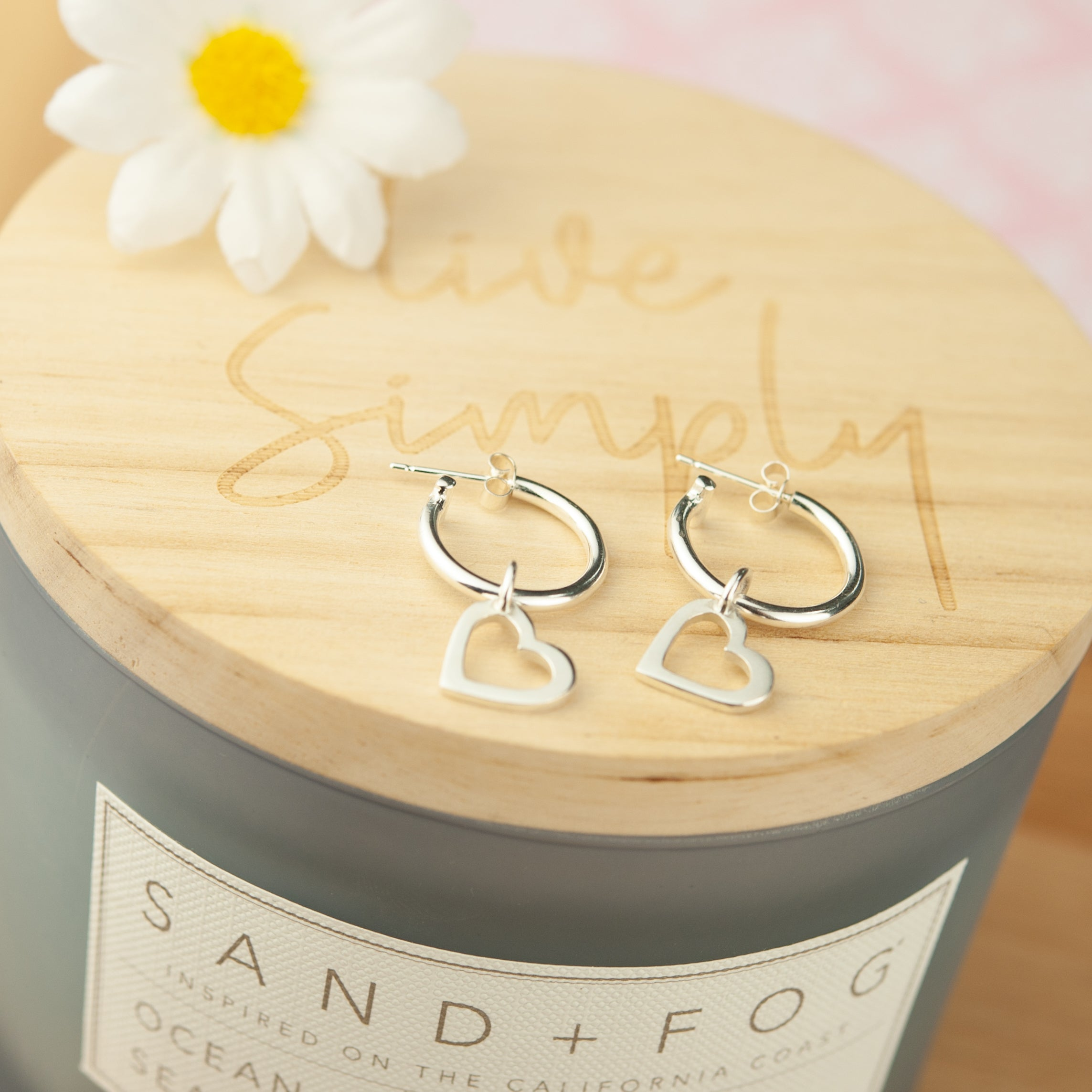 Sterling silver Hoop earring charms