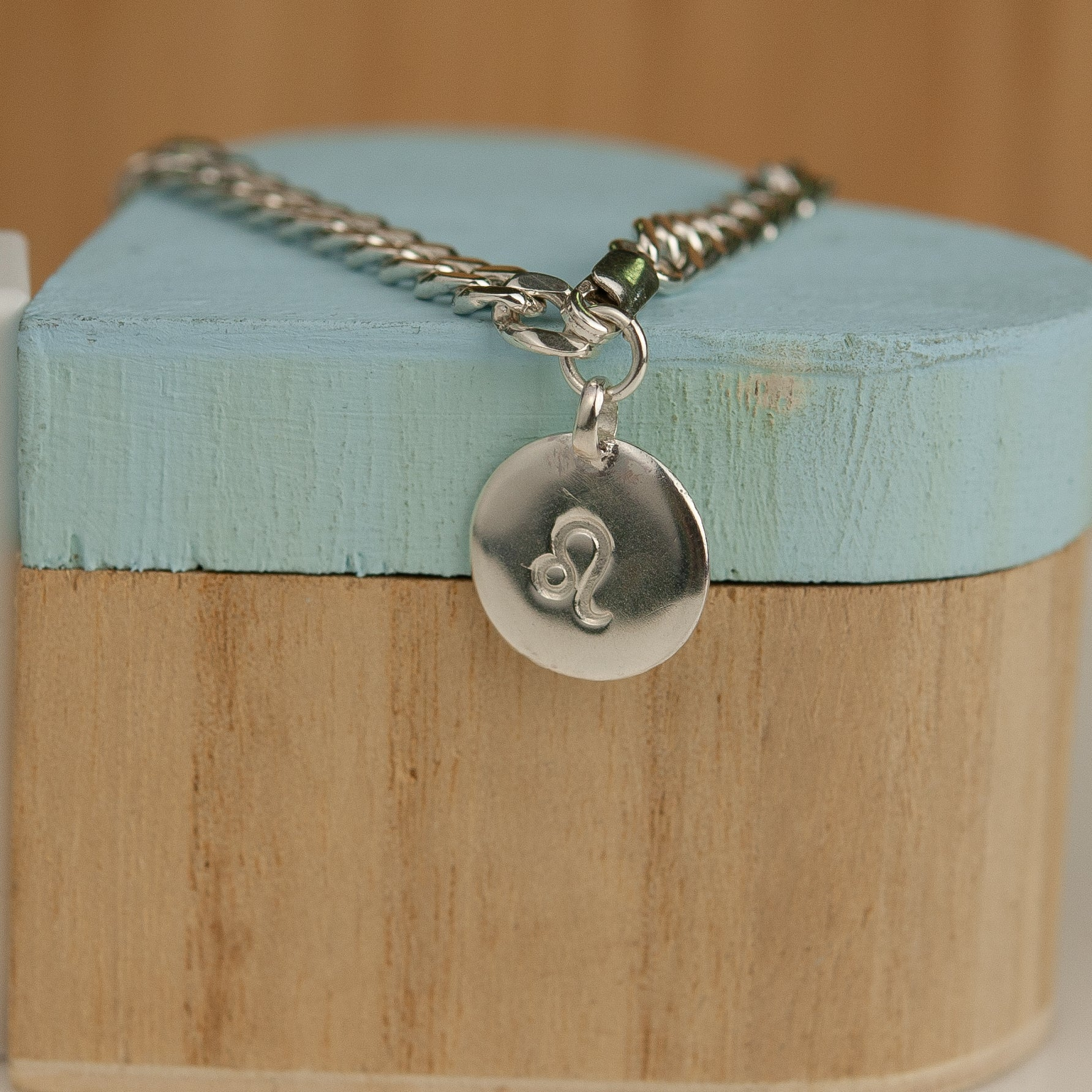 Belle & Bee Sterling Silver Chunky Disc horoscope bracelet