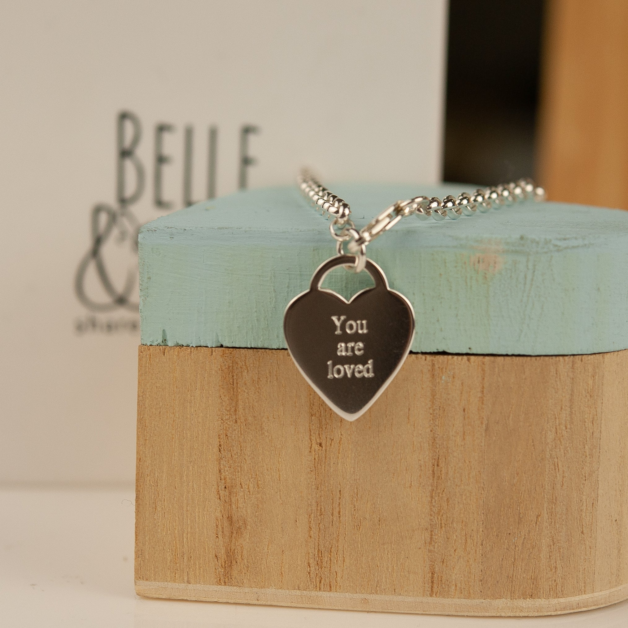 Belle & Bee You are Loved heart bracelet