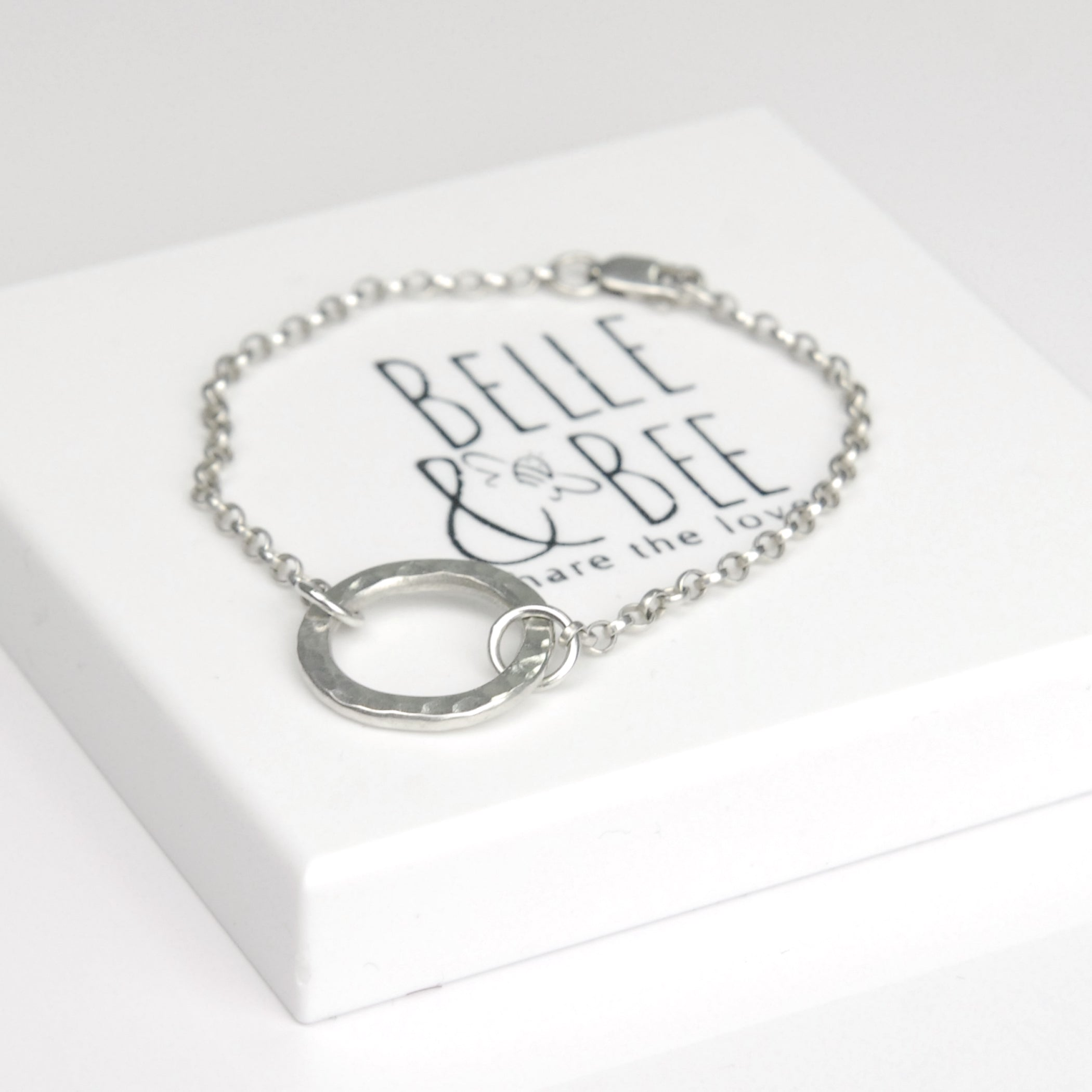 Belle & Bee Sterling Silver Karma Circle Bracelet