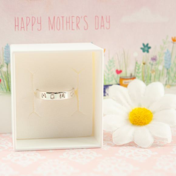 Mum/Mummy  Belle & Bee Personalised Silver Ring