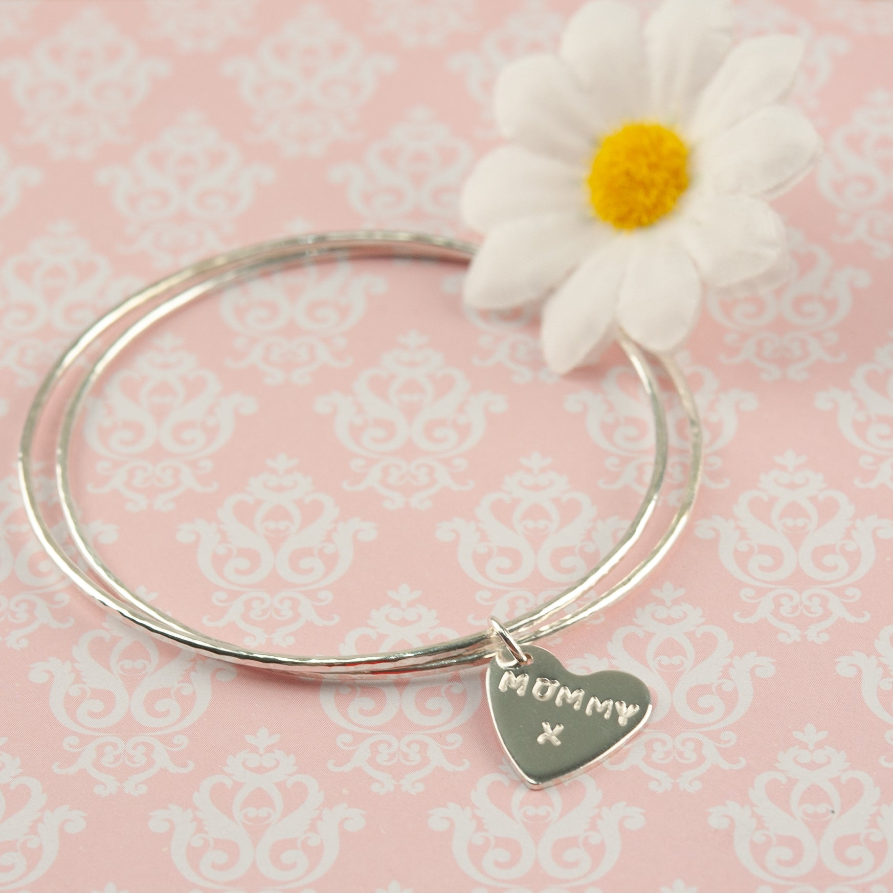 Belle & Bee Sterling silver double bangle