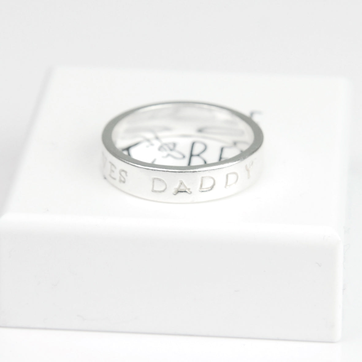 Belle & Bee Chunky Personalised Silver Ring