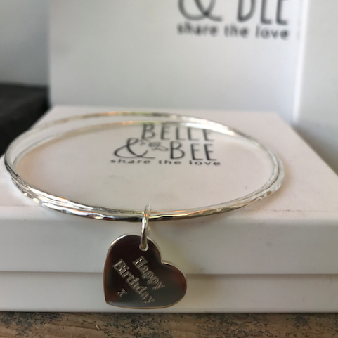 Belle & Bee sterling silver double skinny bangle