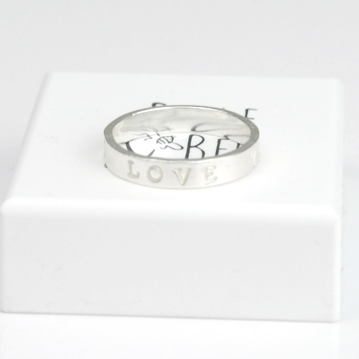 Belle & Bee Personalised Sterling Silver Ring